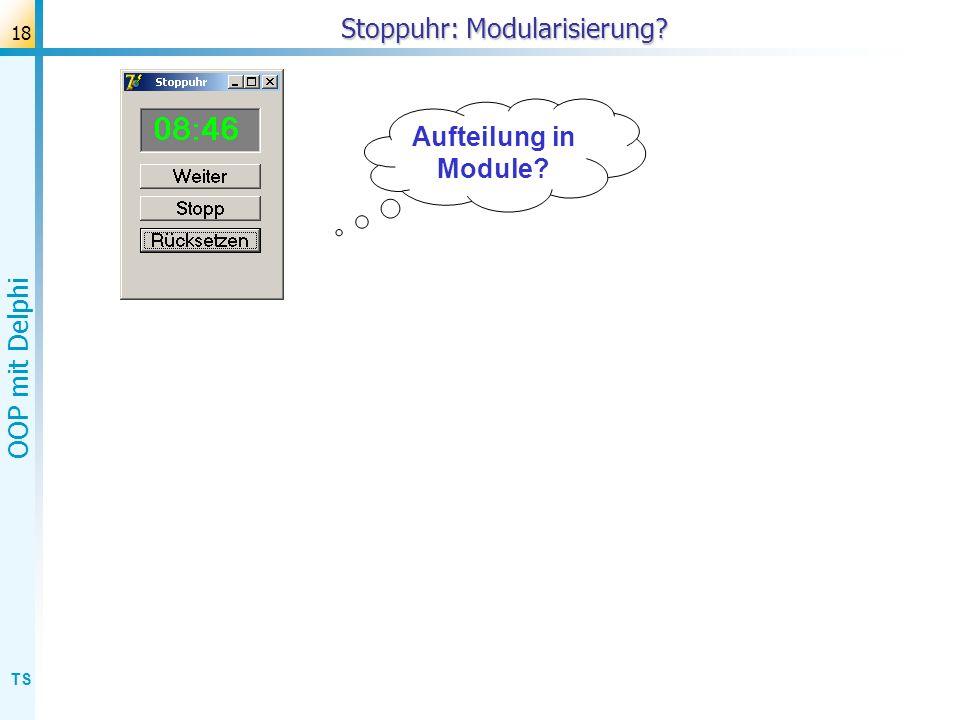 Stoppuhr: Modularisierung