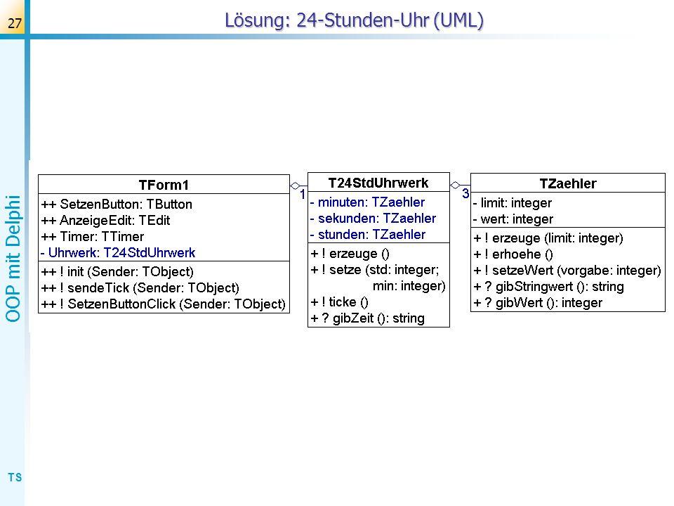 Lösung: 24-Stunden-Uhr (UML)