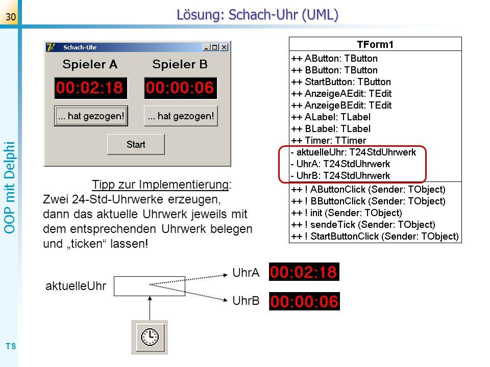 Lösung: Schach-Uhr (UML)