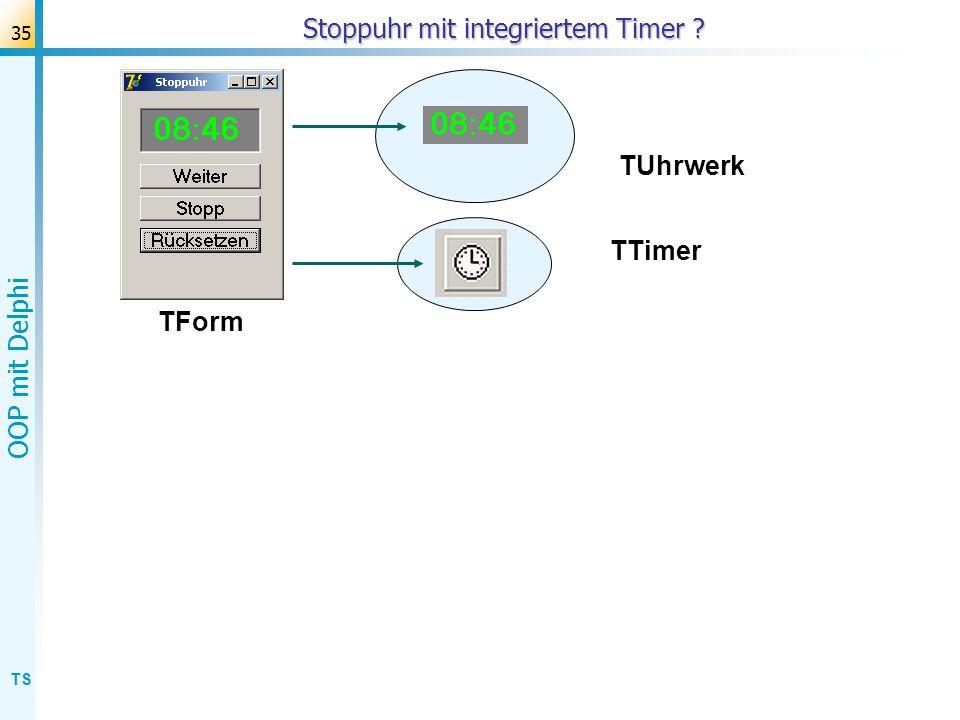 Stoppuhr mit integriertem Timer
