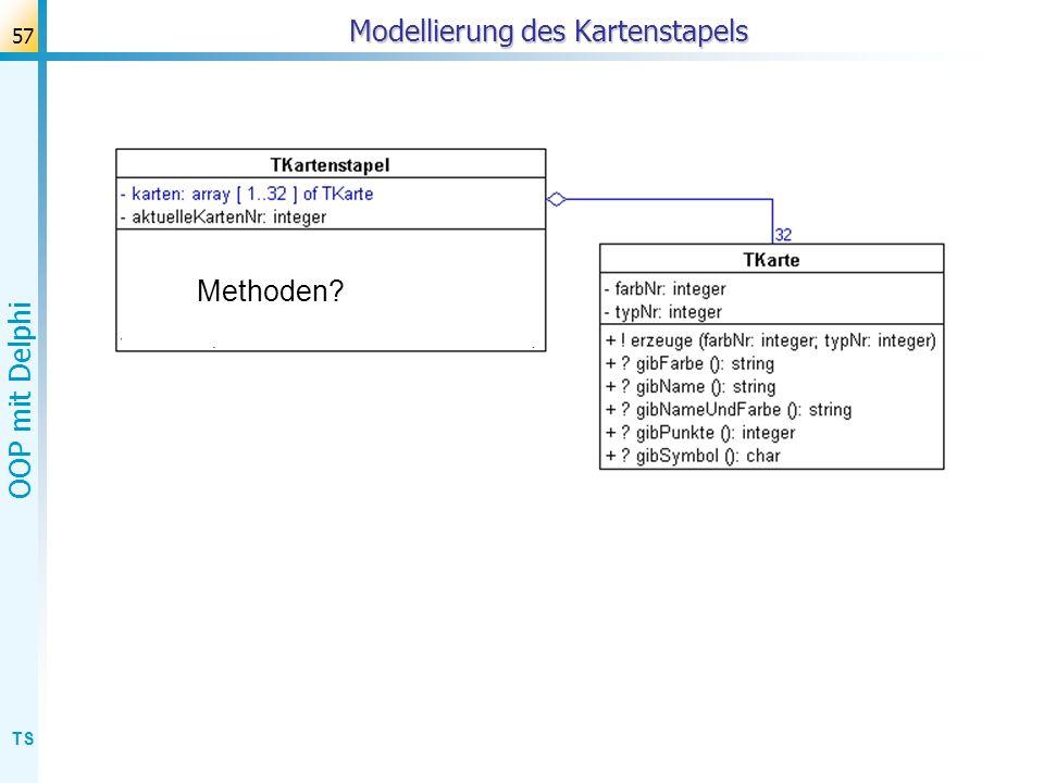 Modellierung des Kartenstapels