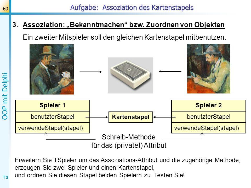 Aufgabe: Assoziation des Kartenstapels
