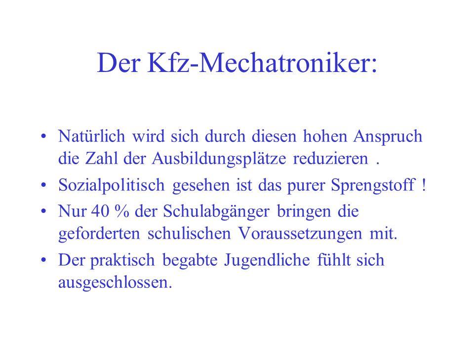 Der Kfz-Mechatroniker: