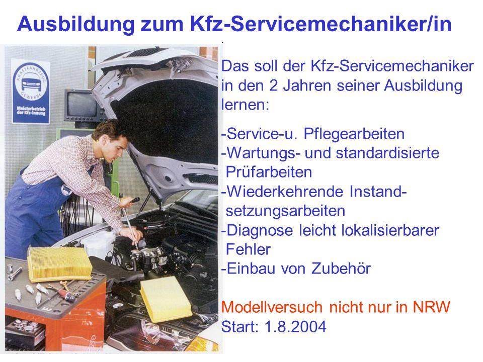 Ausbildung zum Kfz-Servicemechaniker/in