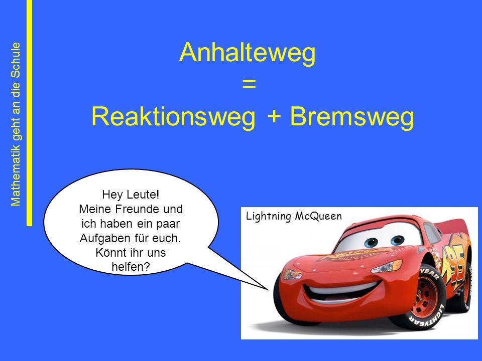 Reaktionsweg + Bremsweg
