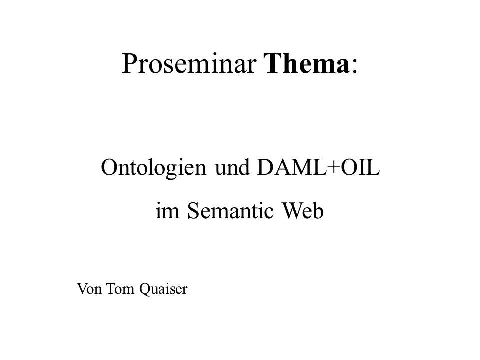 Ontologien und DAML+OIL