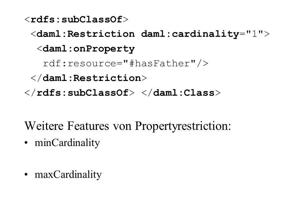 Weitere Features von Propertyrestriction: