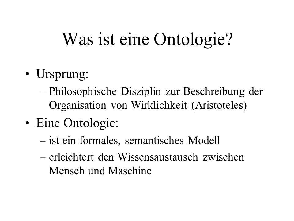 Was ist eine Ontologie Ursprung: Eine Ontologie:
