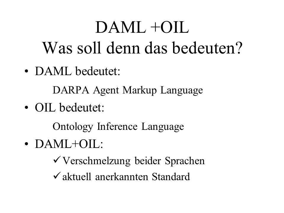 DAML +OIL Was soll denn das bedeuten