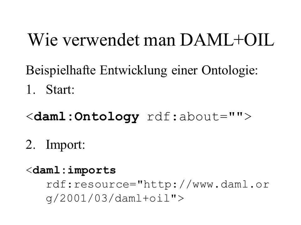 Wie verwendet man DAML+OIL