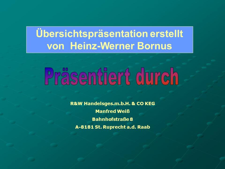 Übersichtspräsentation erstellt von Heinz-Werner Bornus