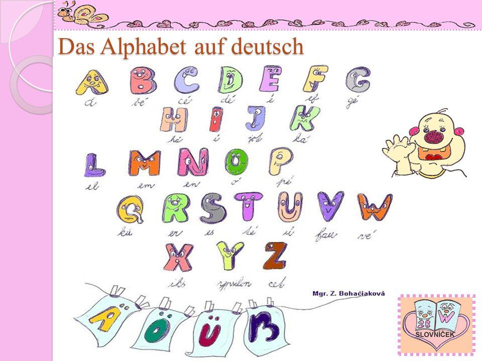 Das Alphabet auf deutsch