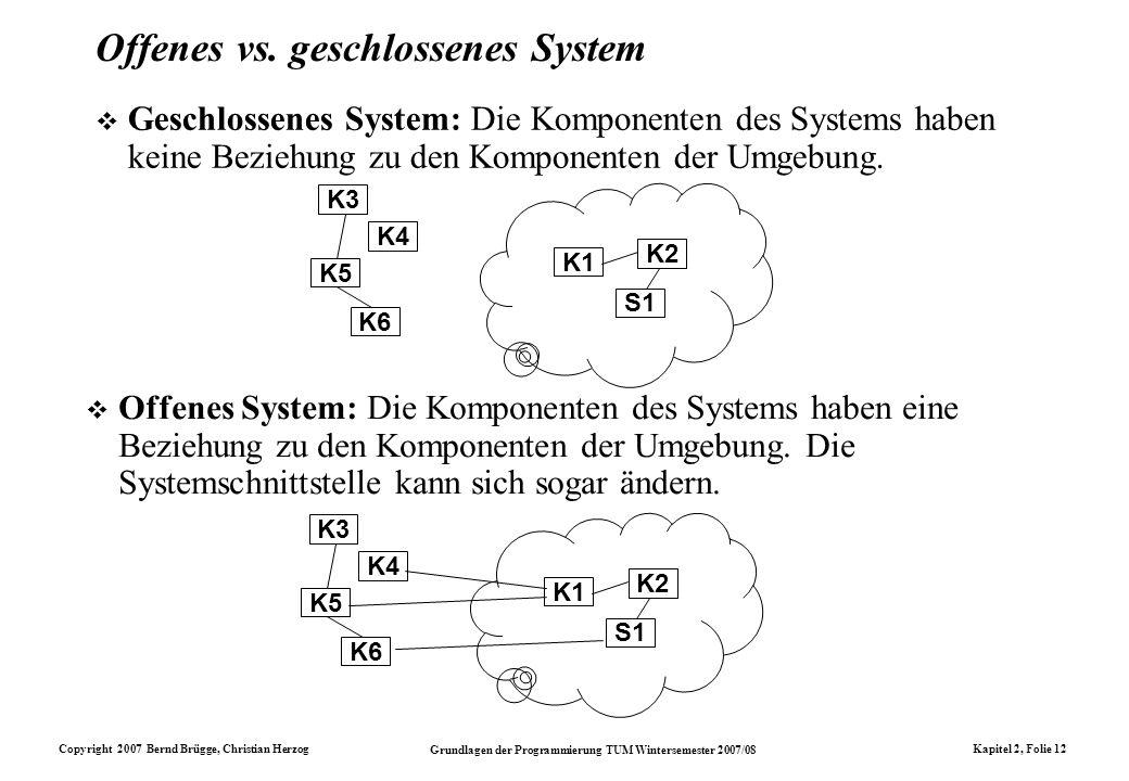 Offenes vs. geschlossenes System