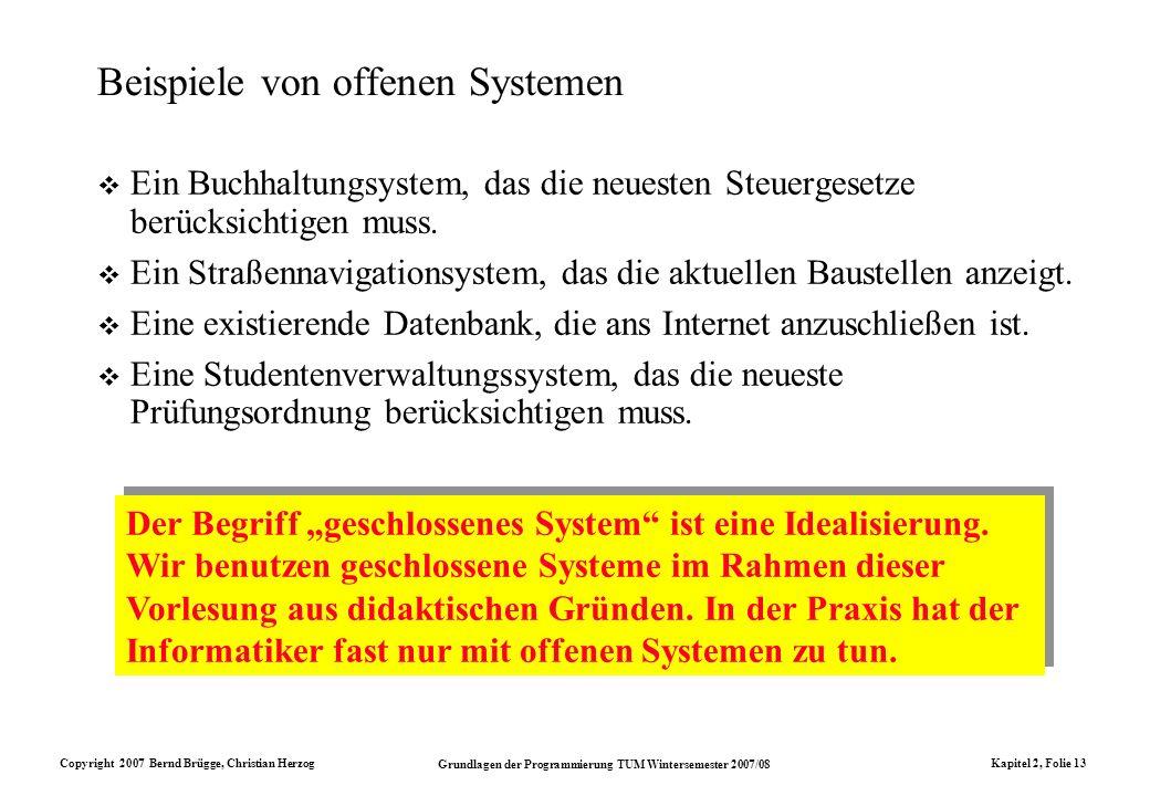 Beispiele von offenen Systemen