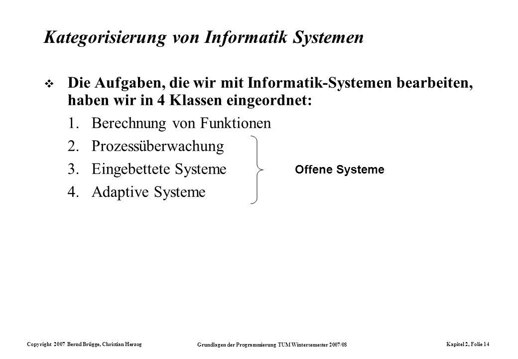 Kategorisierung von Informatik Systemen