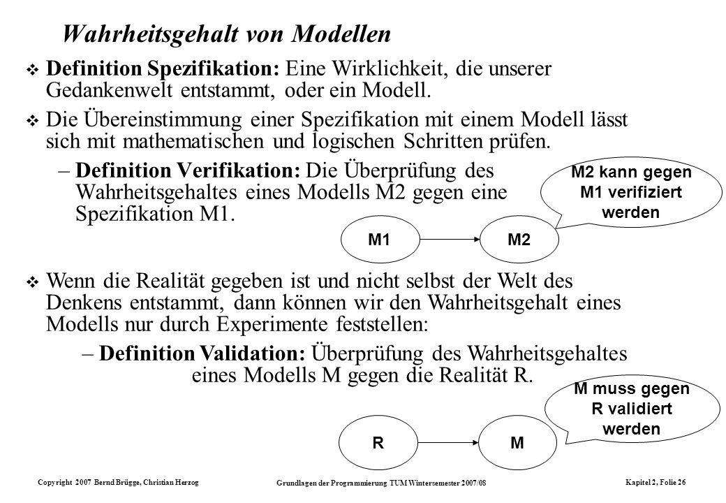 Wahrheitsgehalt von Modellen