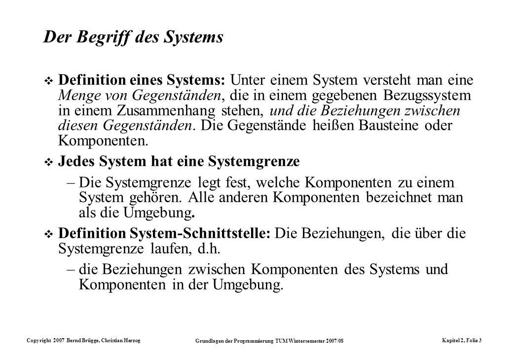 Der Begriff des Systems
