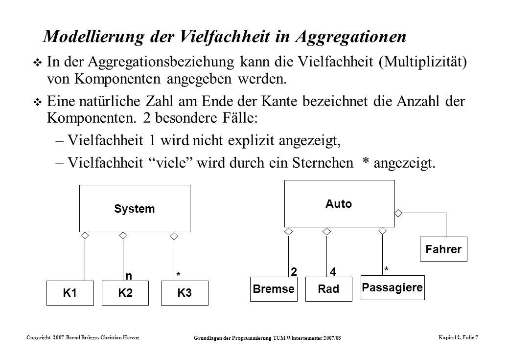 Modellierung der Vielfachheit in Aggregationen