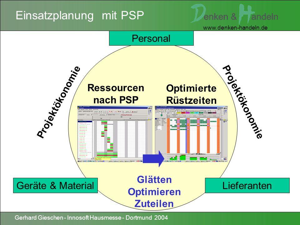 Einsatzplanung mit PSP
