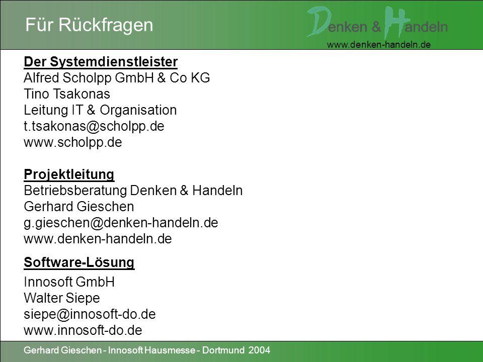 Für Rückfragen Der Systemdienstleister Alfred Scholpp GmbH & Co KG