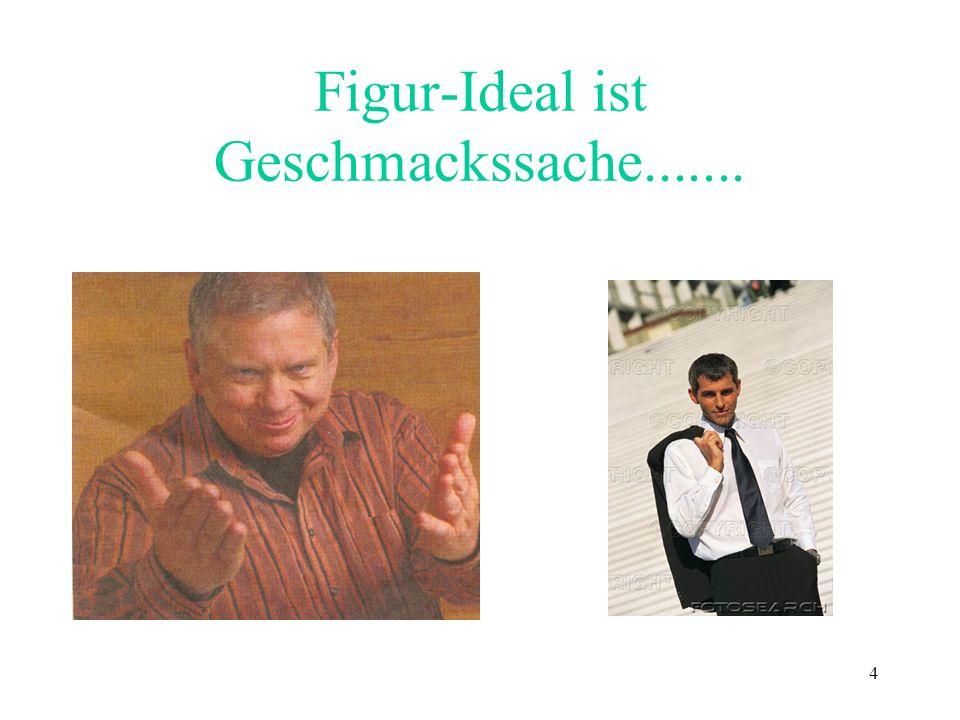Figur-Ideal ist Geschmackssache.......
