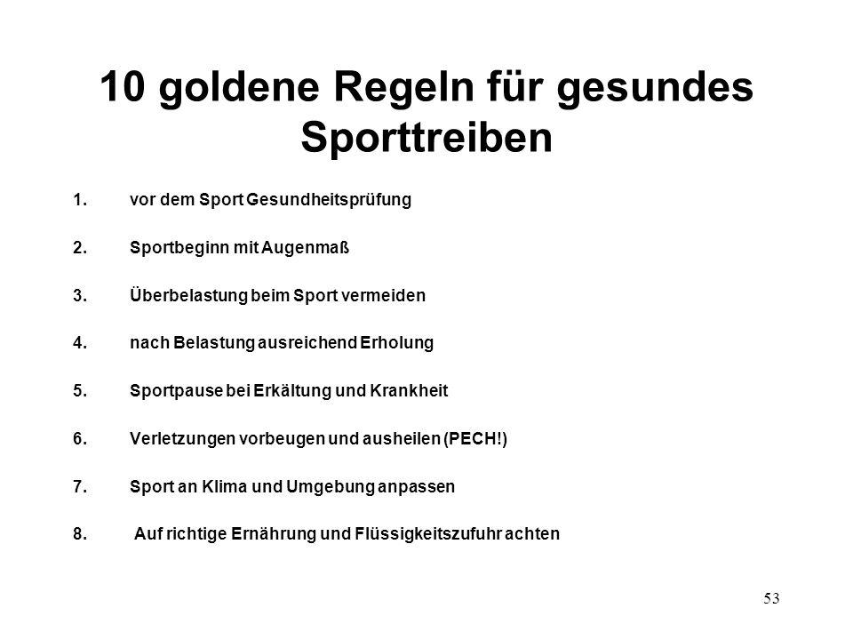 10 goldene Regeln für gesundes Sporttreiben