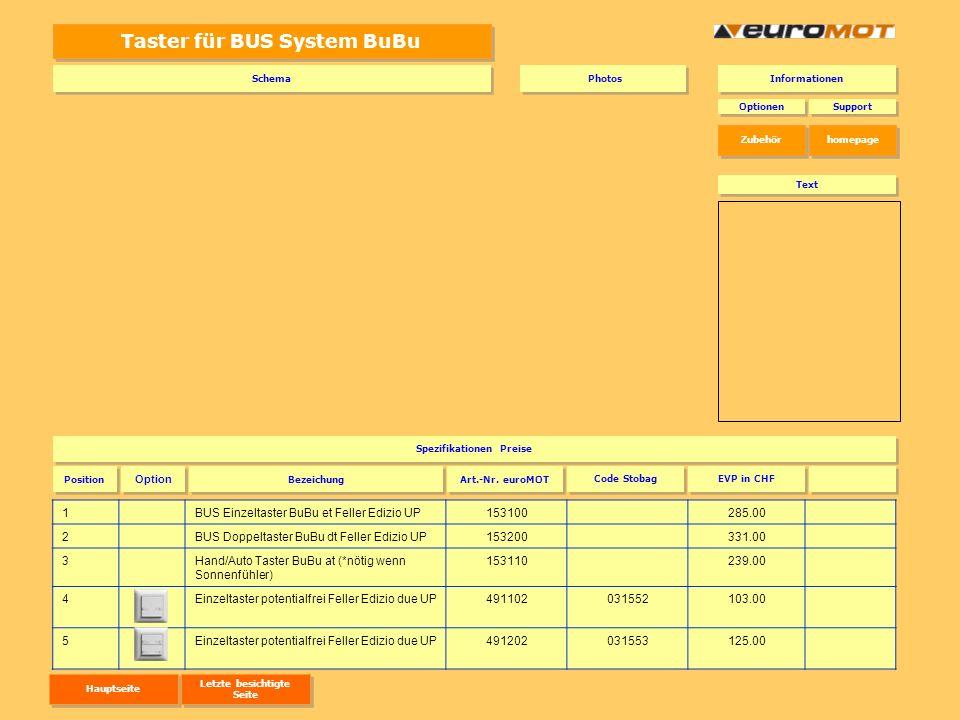 Taster für BUS System BuBu