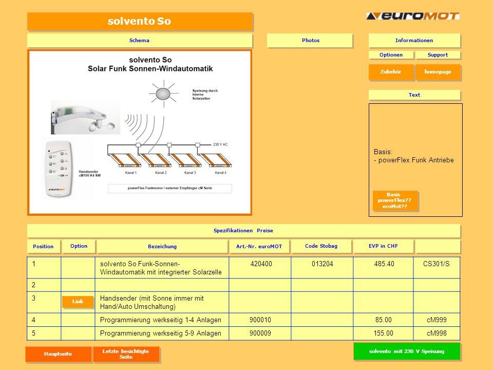 Spezifikationen Preise solvento mit 230 V Speisung