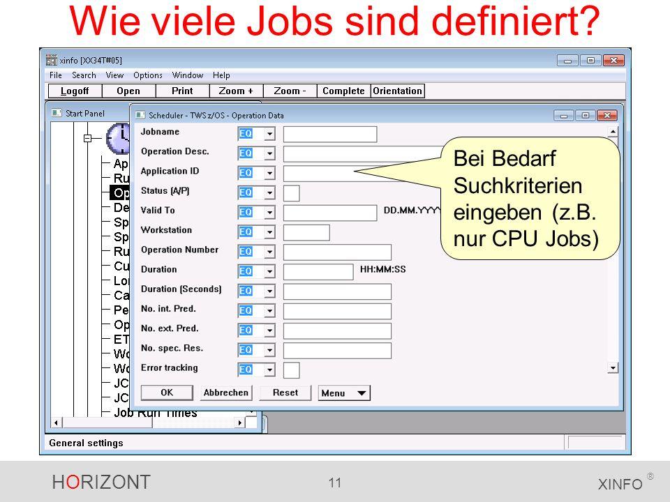 Wie viele Jobs sind definiert