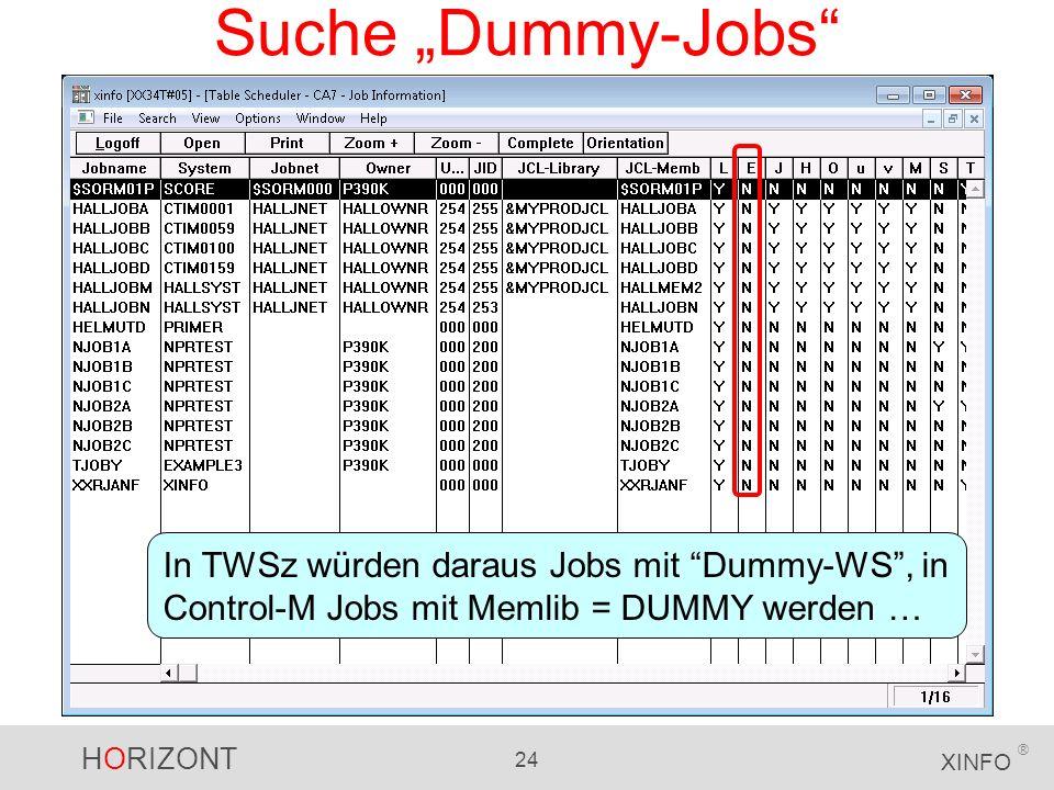 """Suche """"Dummy-Jobs In TWSz würden daraus Jobs mit Dummy-WS , in Control-M Jobs mit Memlib = DUMMY werden …"""