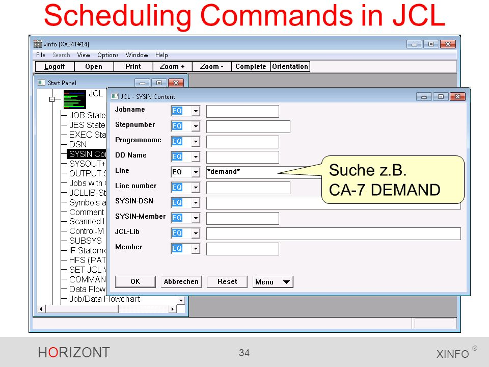 Scheduling Commands in JCL