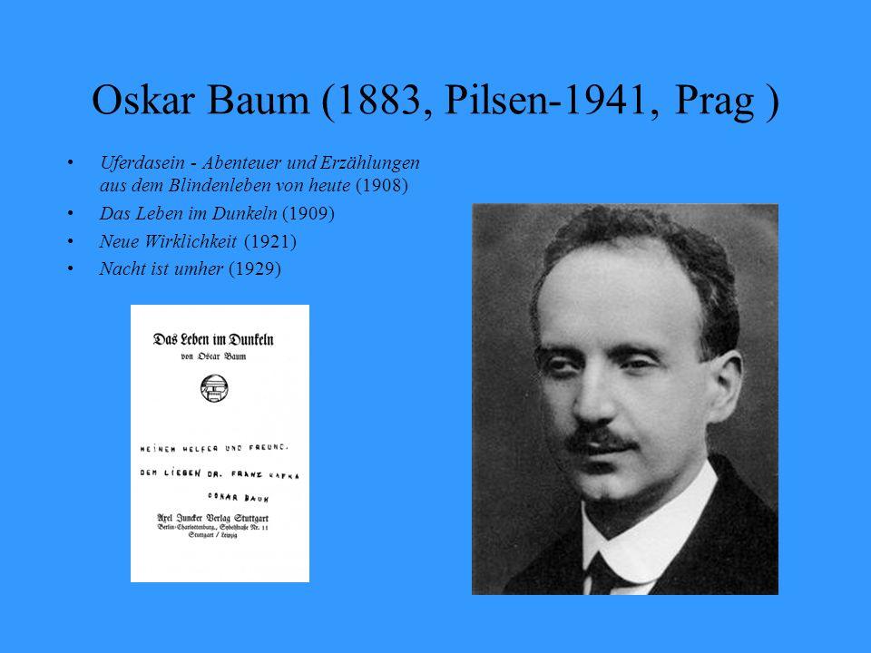 Oskar Baum (1883, Pilsen-1941, Prag )