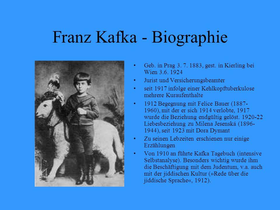 Franz Kafka - Biographie