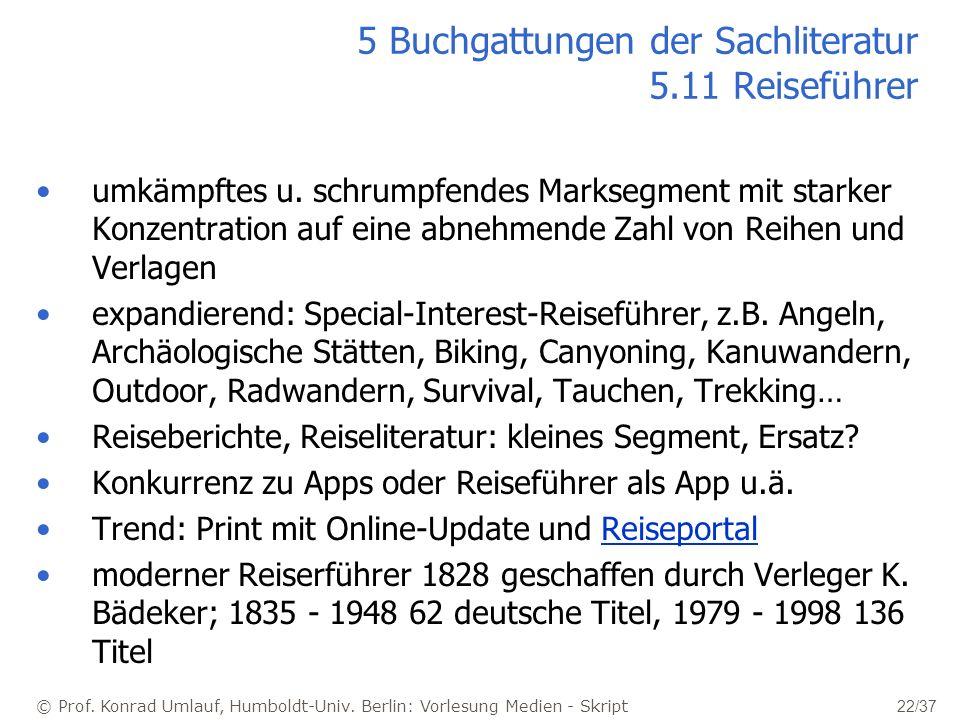 5 Buchgattungen der Sachliteratur 5.11 Reiseführer