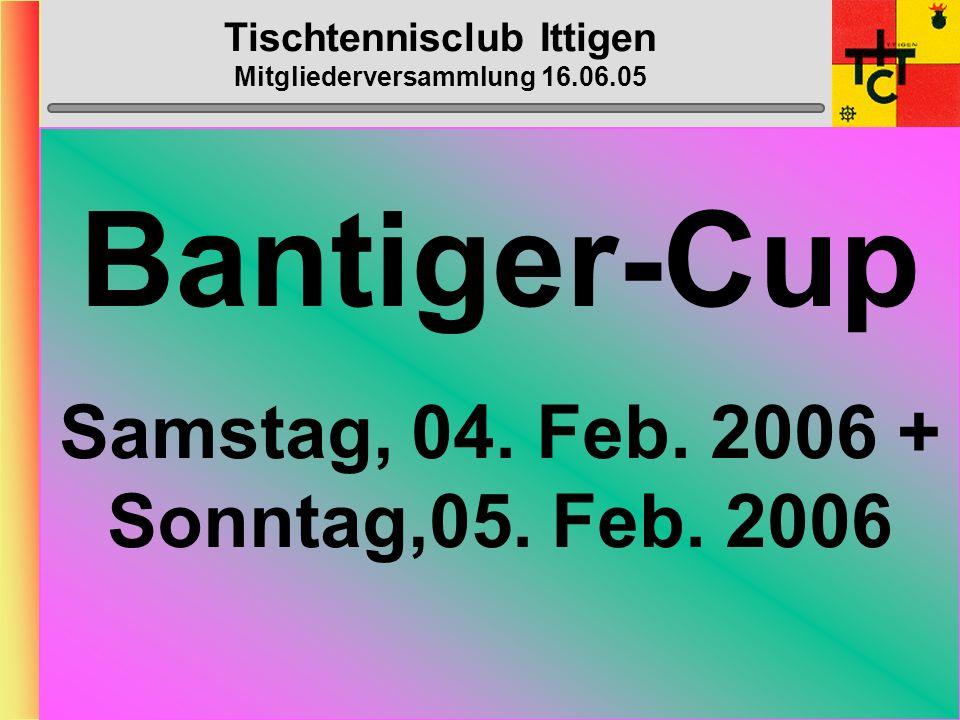 Tischtennisclub Ittigen Mitgliederversammlung 16.06.05