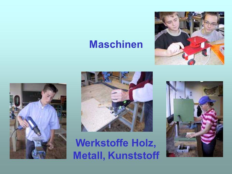 Werkstoffe Holz, Metall, Kunststoff