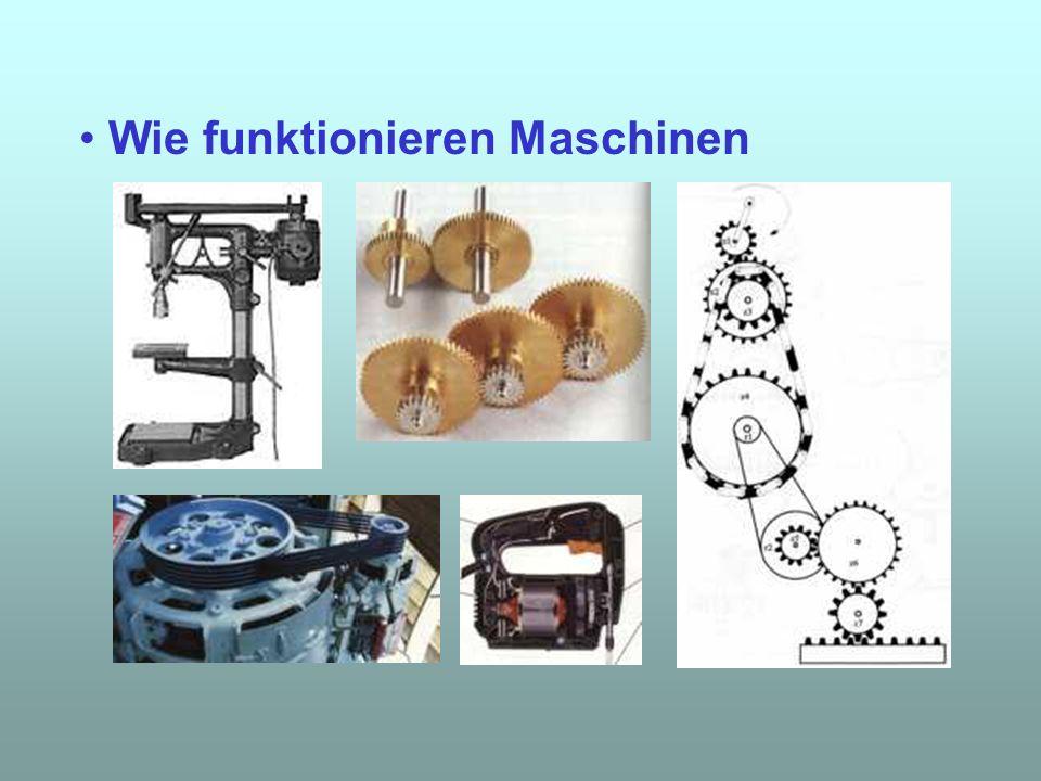 Wie funktionieren Maschinen