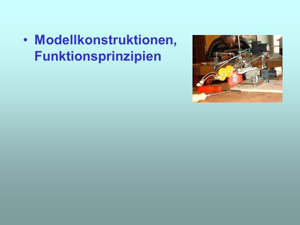 Modellkonstruktionen, Funktionsprinzipien