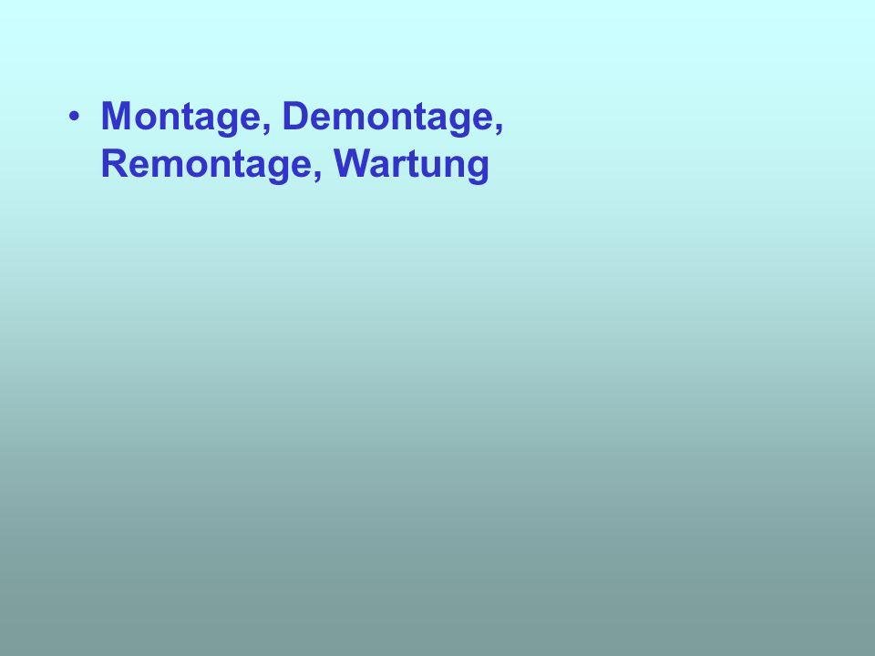 Montage, Demontage, Remontage, Wartung