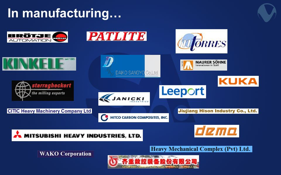 In manufacturing…