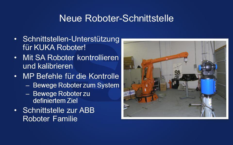 Neue Roboter-Schnittstelle