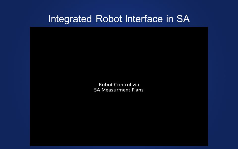 Integrated Robot Interface in SA