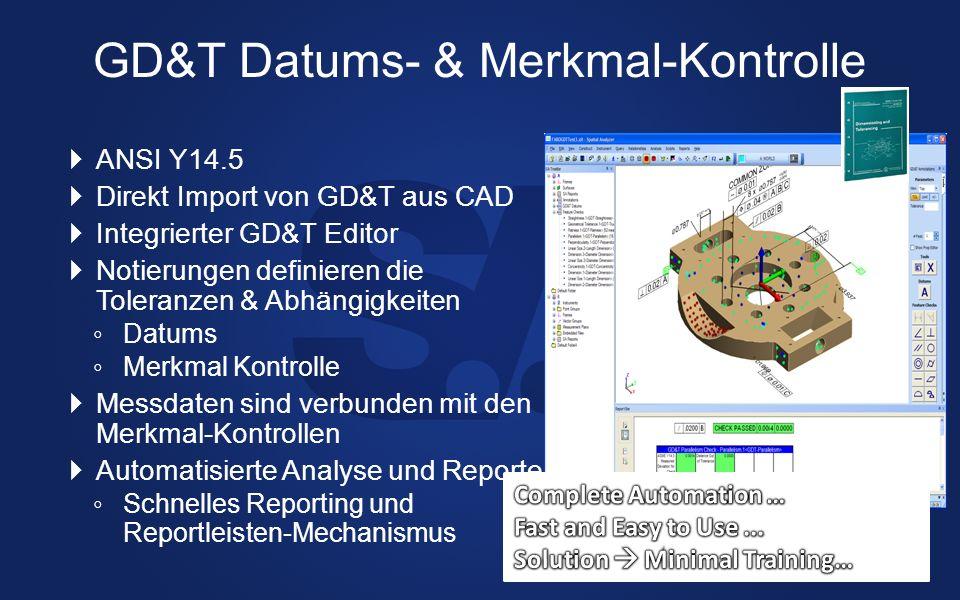 GD&T Datums- & Merkmal-Kontrolle