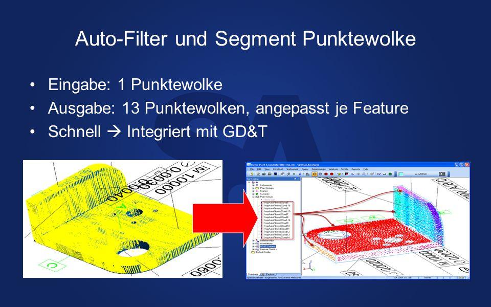 Auto-Filter und Segment Punktewolke