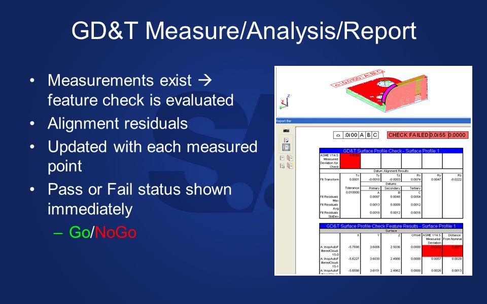 GD&T Measure/Analysis/Report