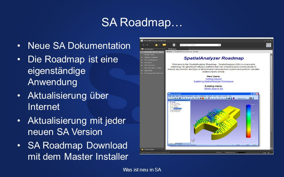 SA Roadmap… Neue SA Dokumentation