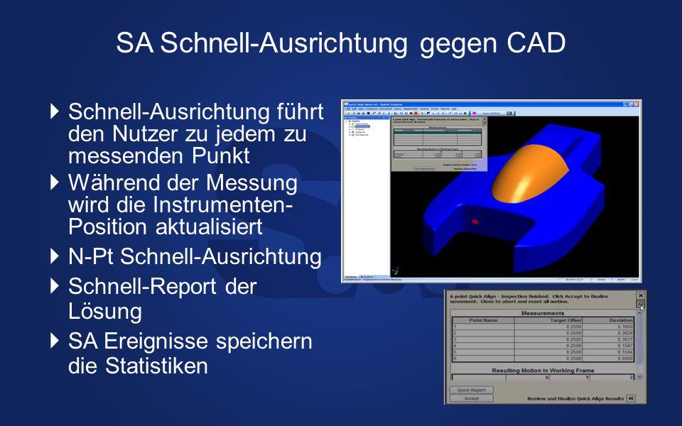 SA Schnell-Ausrichtung gegen CAD