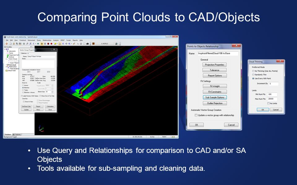 Comparing Point Clouds to CAD/Objects