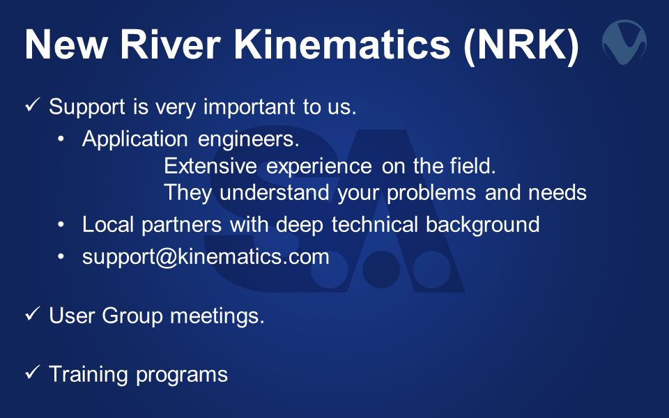 New River Kinematics (NRK)