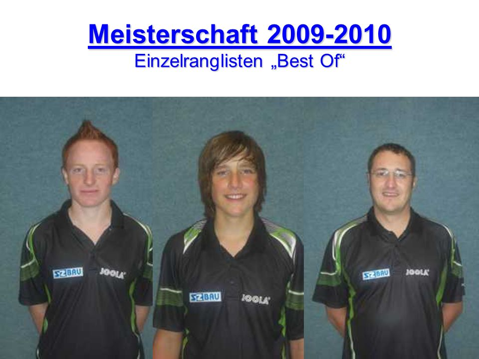 "Meisterschaft 2009-2010 Einzelranglisten ""Best Of"